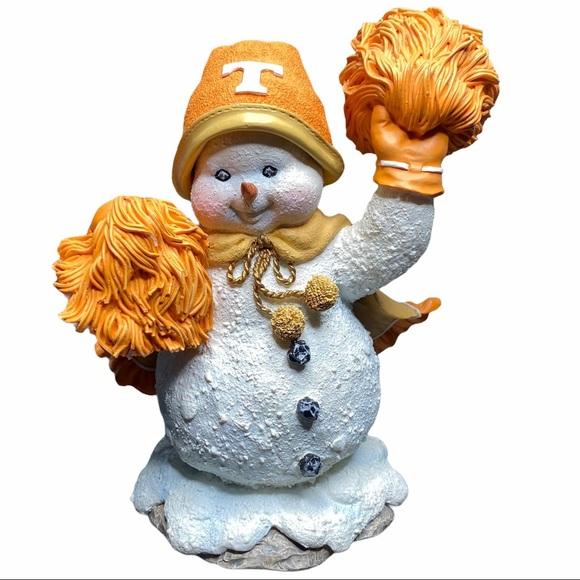 Vintage Tennessee Volunteers cheerleader snowman